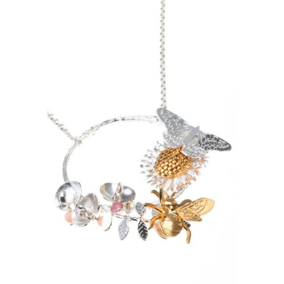 Amanda Coleman country garden hoop necklace close up