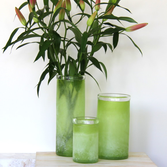 citrus green frosted glass