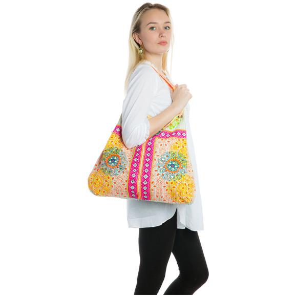 Pink fabric bag