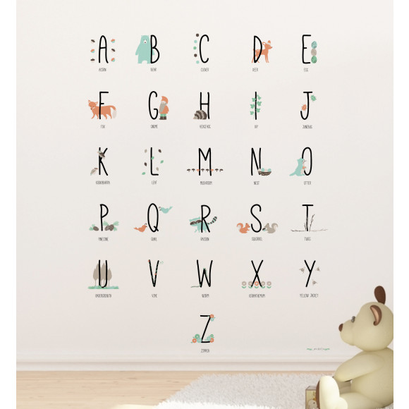 Woodland Animal Alphabets by Llama Creation
