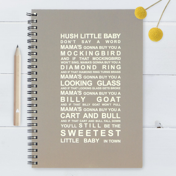 Hush little baby notebook - Large