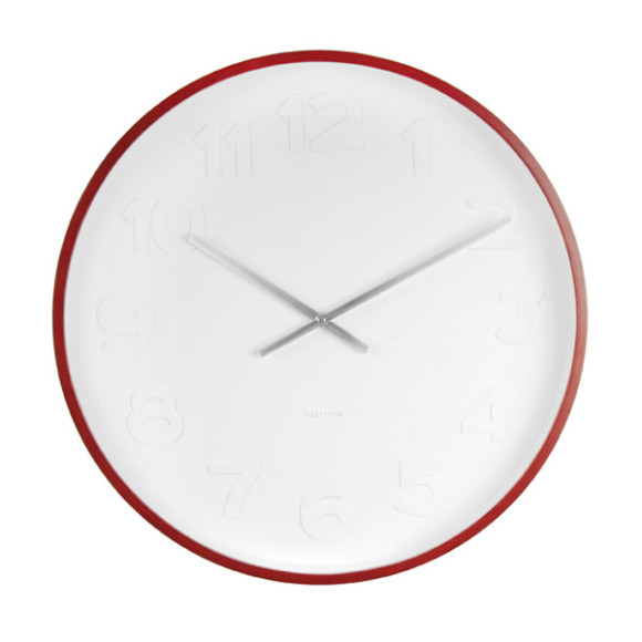 Karlsson Mr White Wood -  Wall Clock, diameter 37,5 cm