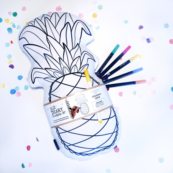 Colour-in Pineapple