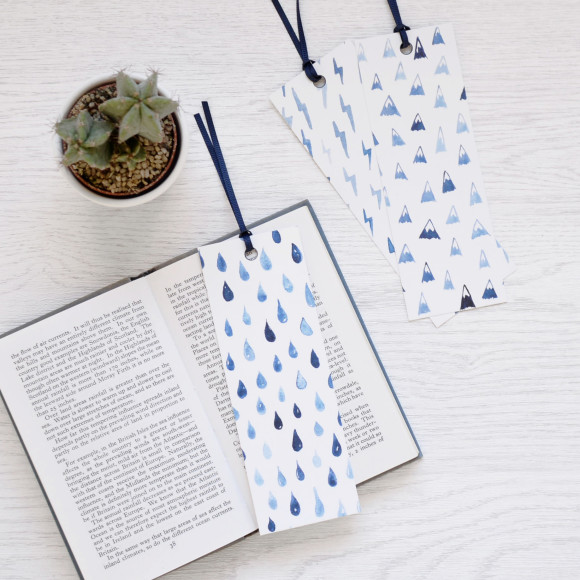 Rain Lightning Mountains Bookmarks