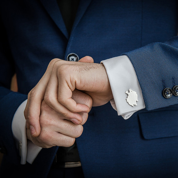 Handcrafted cufflinks for him