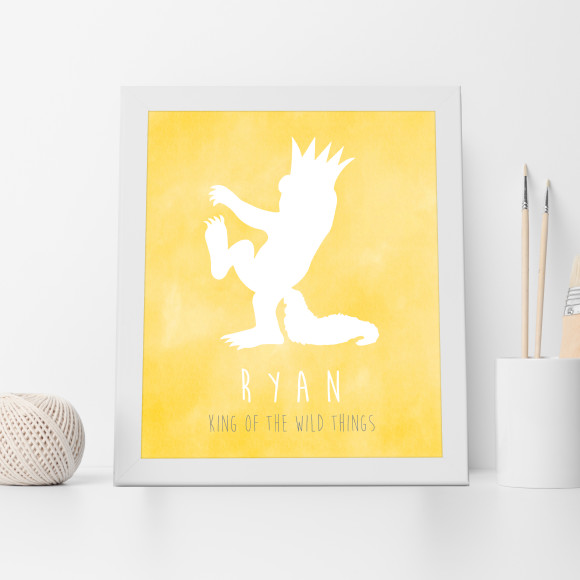 Personalised King of the Wild Things Print in Yellow