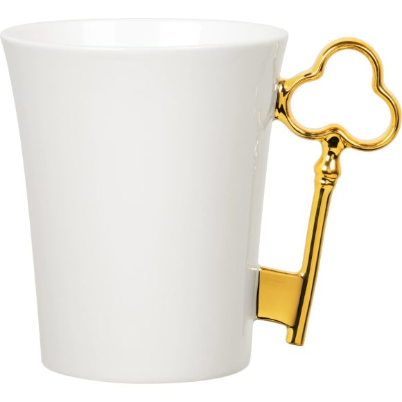 Gold Key Handle Mug