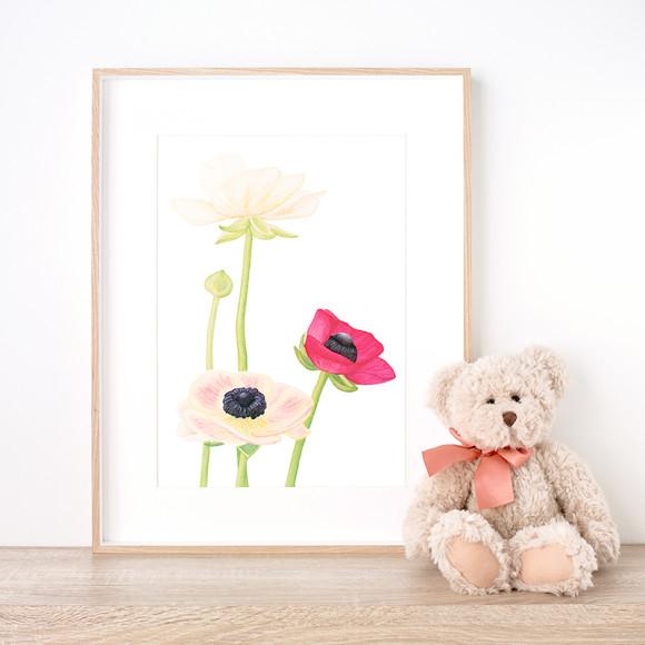 Fleur Éclose Art Print