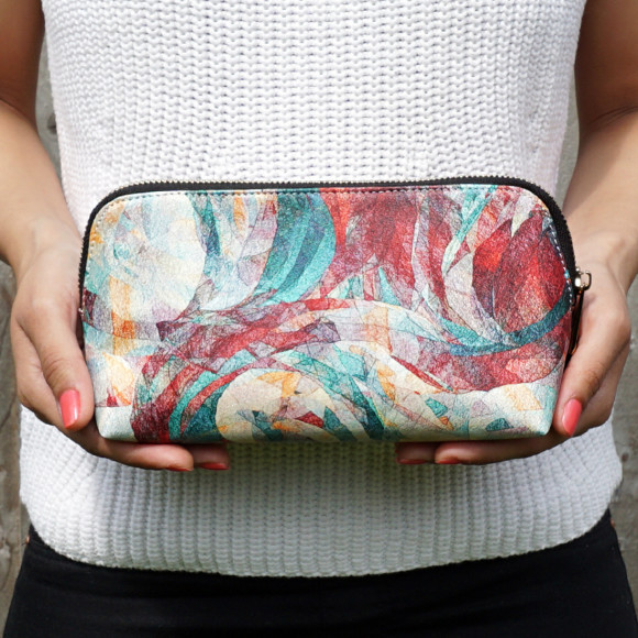 Rapt Marble Effect Vegan Leather Small Make Up & Cosmetic Bag