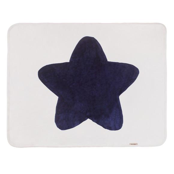 Navy baby Star Blanket