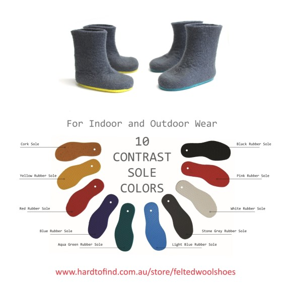 color rubber sole
