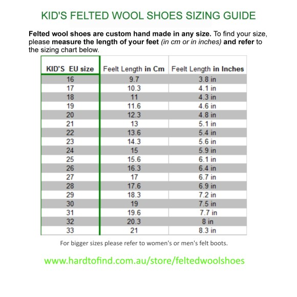boots sizes