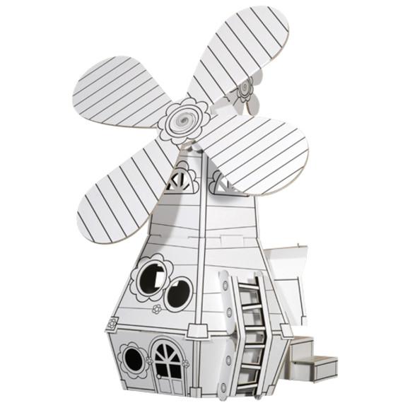 Cardboard windmill
