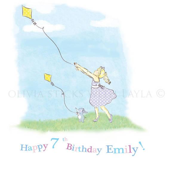 Kite birthday card