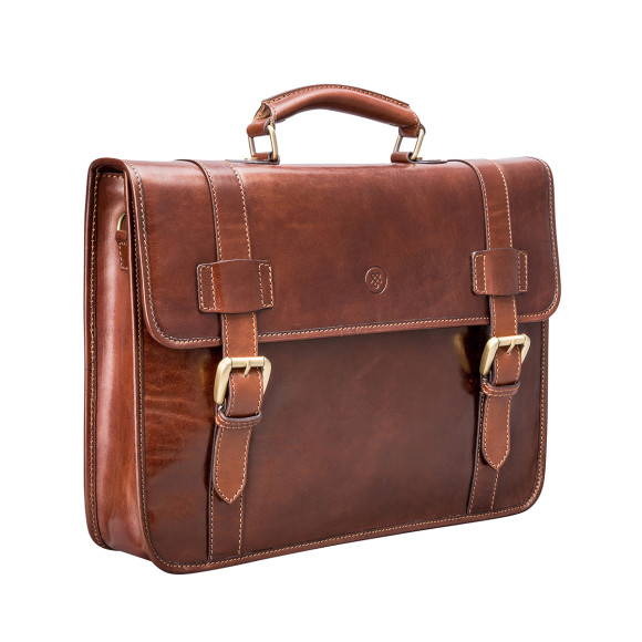 The Micheli Briefcase in Tan