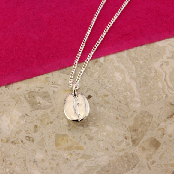 Sterling Silver Coffee Bean Pendant