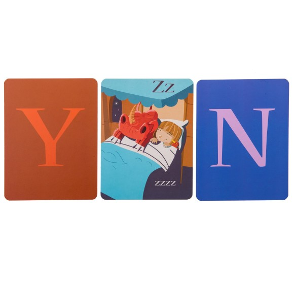 Knights & Dragon Alphabet Wall Cards