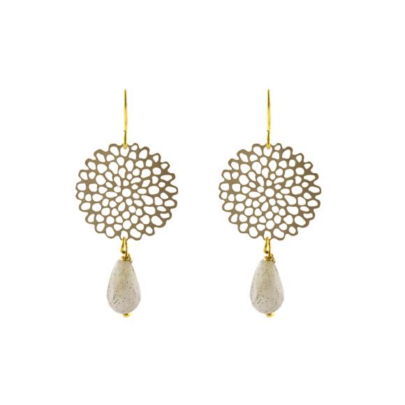 Peony earrings