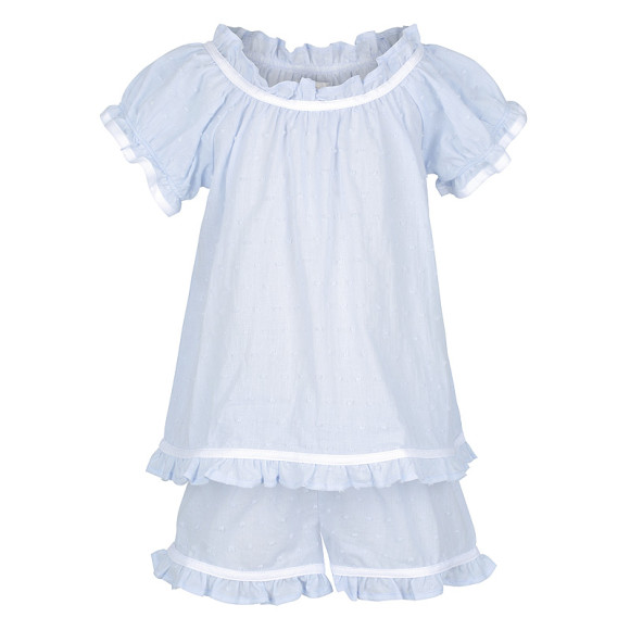 Powder Blue Ruffle Pj Set
