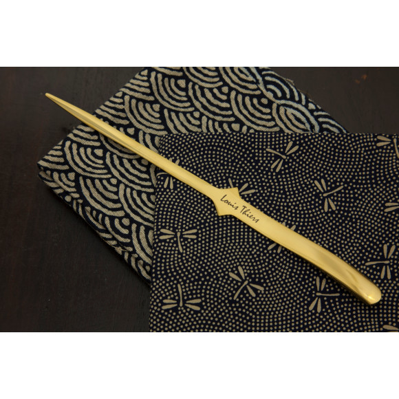 Polished yellow gold letter opener