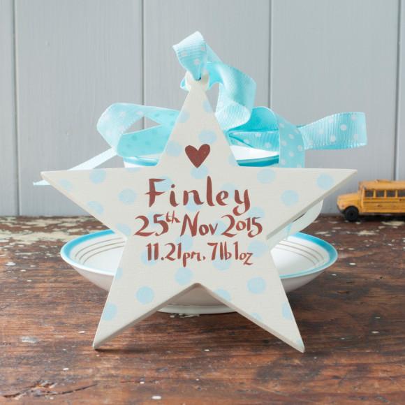 a keepsake star for a baby boy