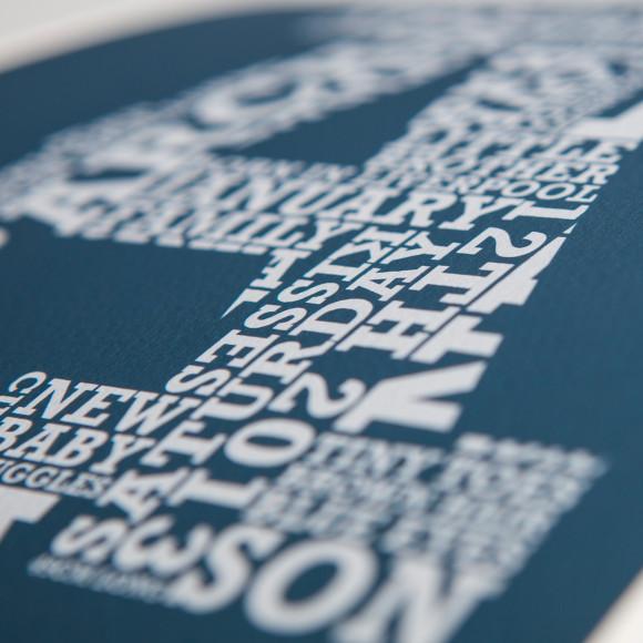 Slab Letter word art print detail