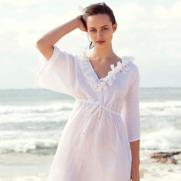 Cassis linen dress