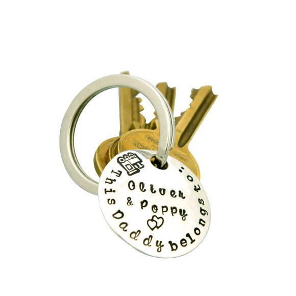 The This Daddy key ring in sterling silver