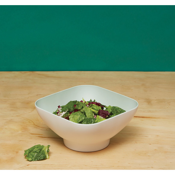 Diga Colander Bowl with pop up strainer in Mint