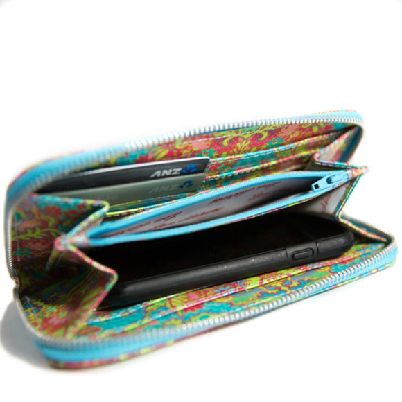 Item is not for this print but shown so you can see what the inside of the wallet looks like.