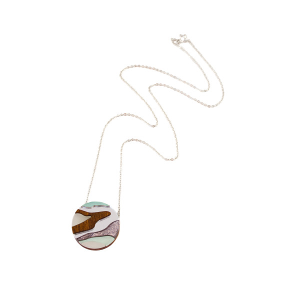 Marble II Necklace - Mint