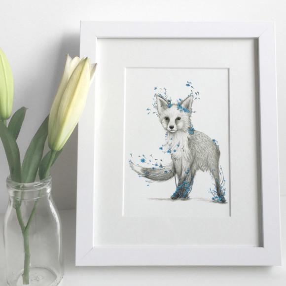 fox print flowers