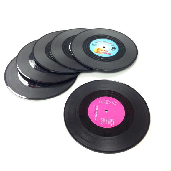 HolySmoke Vinyl Record Coasters