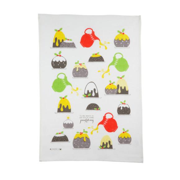 Pudding tea towel