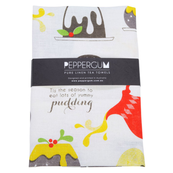 Pudding tea towel
