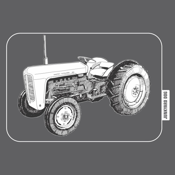 closeup of tractor graphic