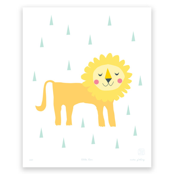 Little Lion Art Print