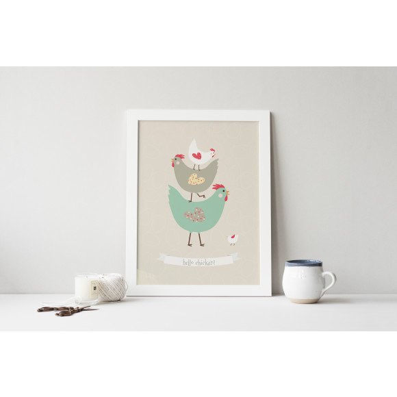 Hello chicken! print