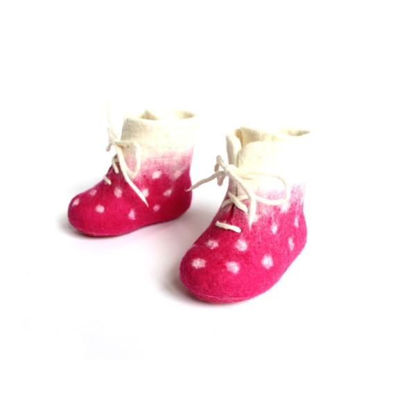dotty merino booties