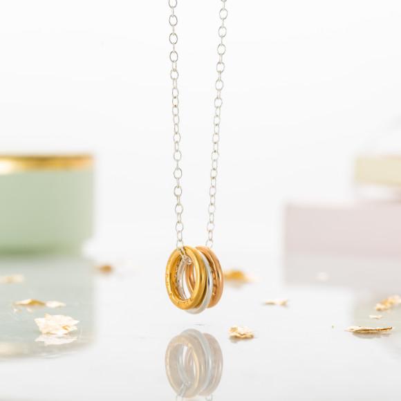 Personalised Mini Tricolore Necklace