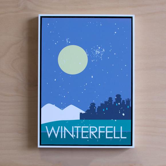 Winterfell in White Floater