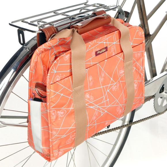Coral Pannier on Bike