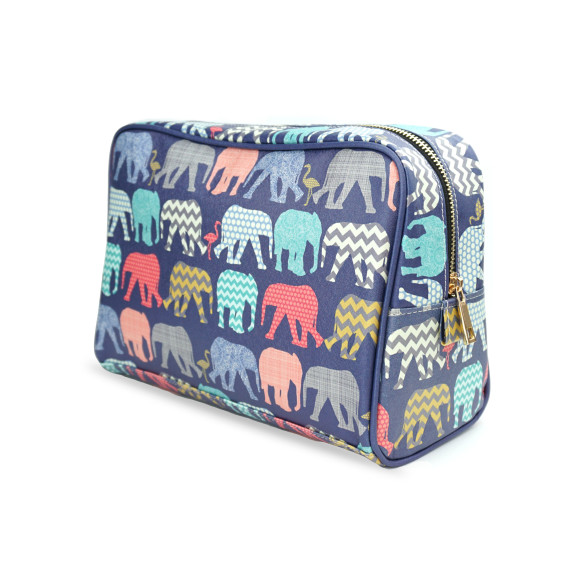 Elephants & Flamingos Wash Bag