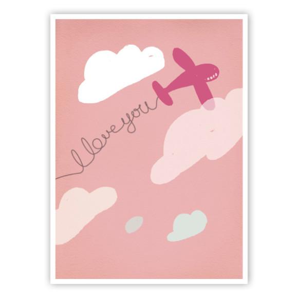Love Plane Pink art print