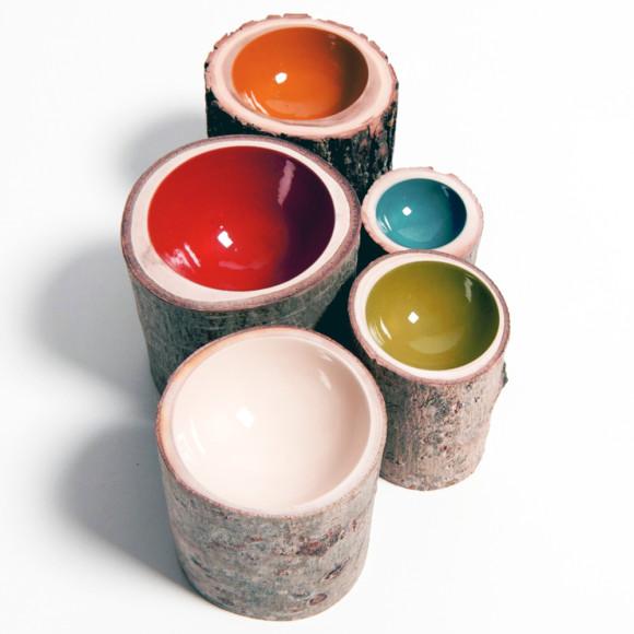 Various log bowls