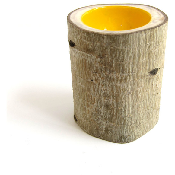 Yellow log bowl