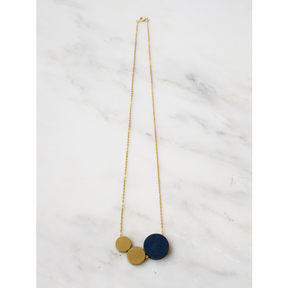 Three Circle Necklace - Midnight Blue