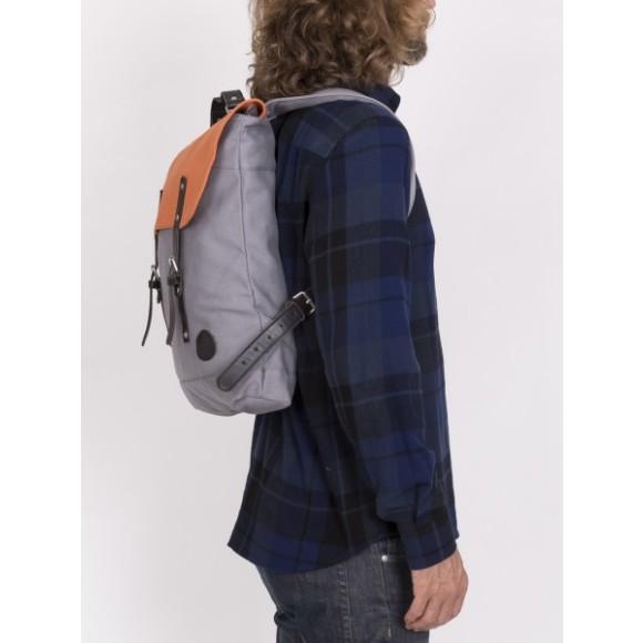 Grey/Orange Top Flap