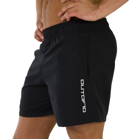T10 Training Shorts Matt Black - Side view