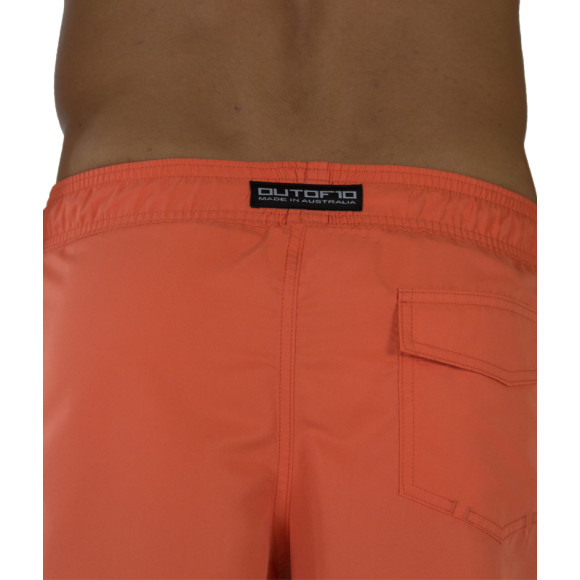 T10 Training Shorts Saidi Orange - Back view